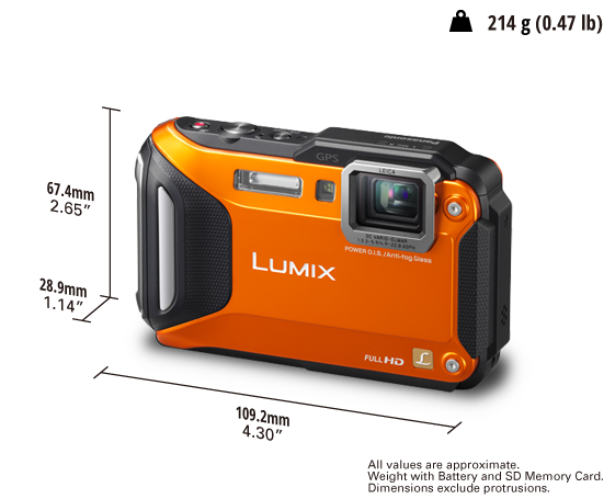 LUMIX Digital Camera DMC-FT6GA