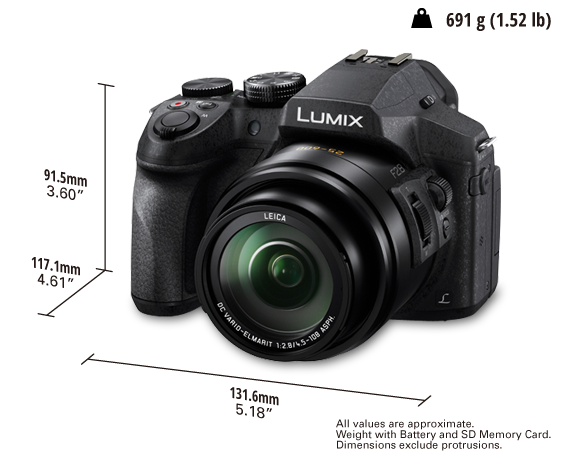 LUMIX Digital Camera DMC-FZ300GA