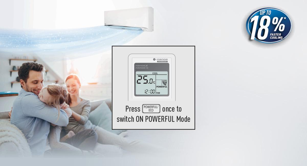 POWERFUL Mode for Instant Cooling Comfort