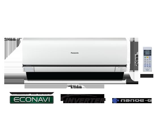 1.0HP ECONAVI Inverter Deluxe Air Conditioner CS-S10PKH (CU-S10PKH)