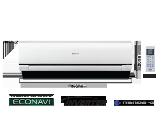 2.5HP ECONAVI Inverter Deluxe Air Conditioner CS-S24PKH (CU-S24PKH)