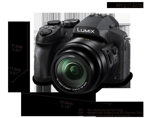 Lumix Super Zoom 4K Digital Camera DMC-FZ300