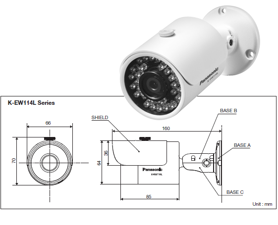 1.3 Megapixel 720p HD Weatherproof Network Camera K-EW114L03E