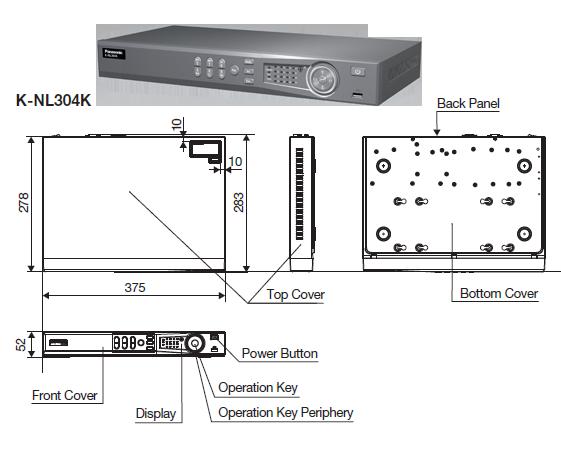 4 ch 4 PoE Network Video Recorder K-NL304K