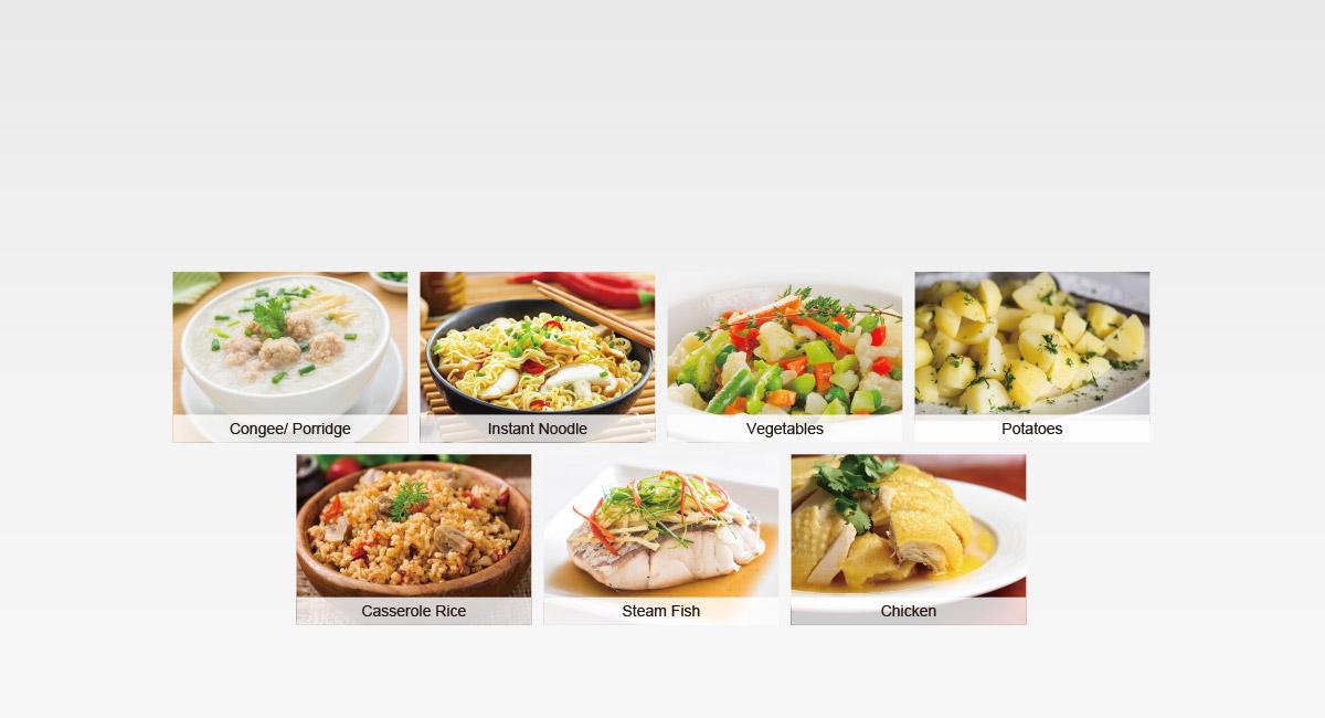 9 Auto Cooking Menus