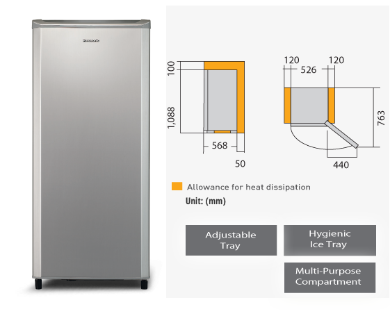 1 Door Refrigerator NR-AF162SNMY