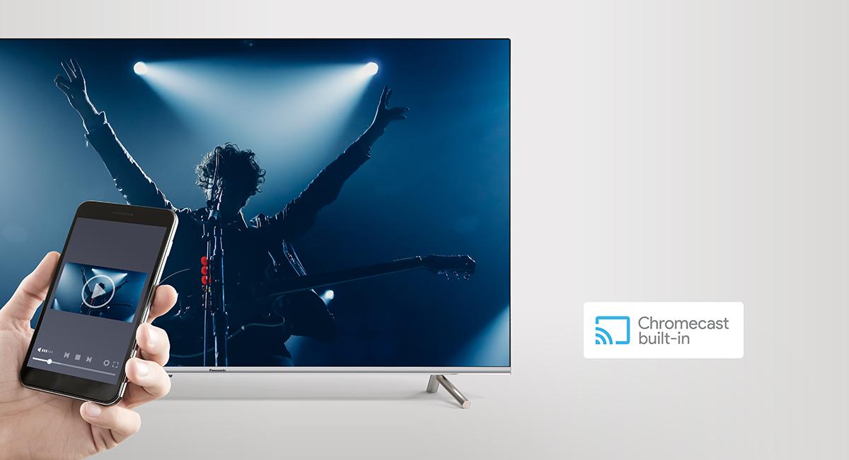 Chromecast built-in | Panasonic 4K HDR Android TV TH-49GX650K – Google Assistant & Chromecast