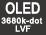 3680k-punts OLED LVF