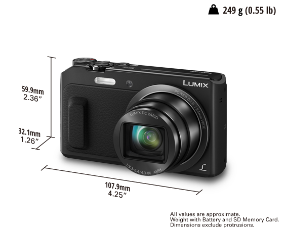 Cámara Digital LUMIX DMC-ZS45