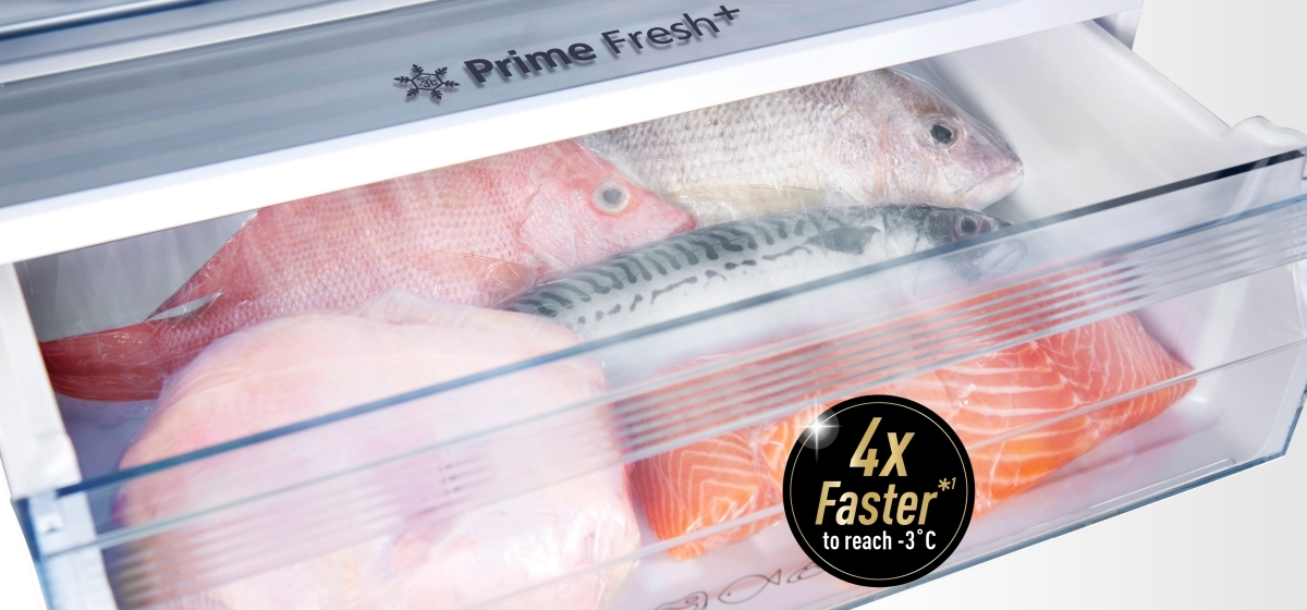Prime Fresh+ Keeps Food Fresh with Faster Soft Freezing