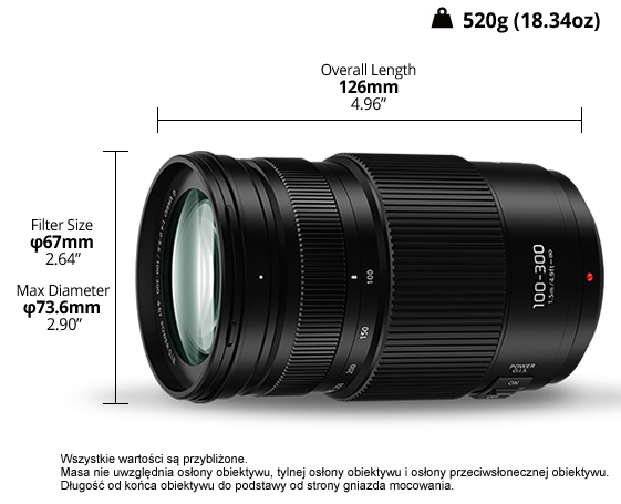 Obiektyw LUMIX G H-FSA100300
