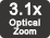 Zoom optic de 3,1x
