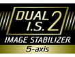 Sistem Dual I.S. 2 (Stabilizator dual de imagine) pe 5 axe