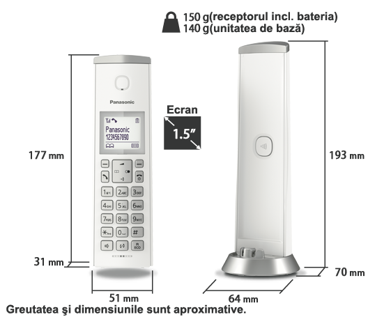 Telefon KX-TGK210