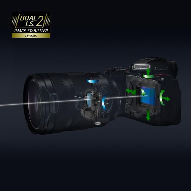 Двойной стабилизатор изображения Dual I.S.2 (6,5 стопов):