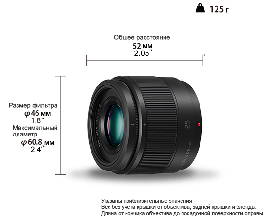 LUMIX G Lens H-H025E