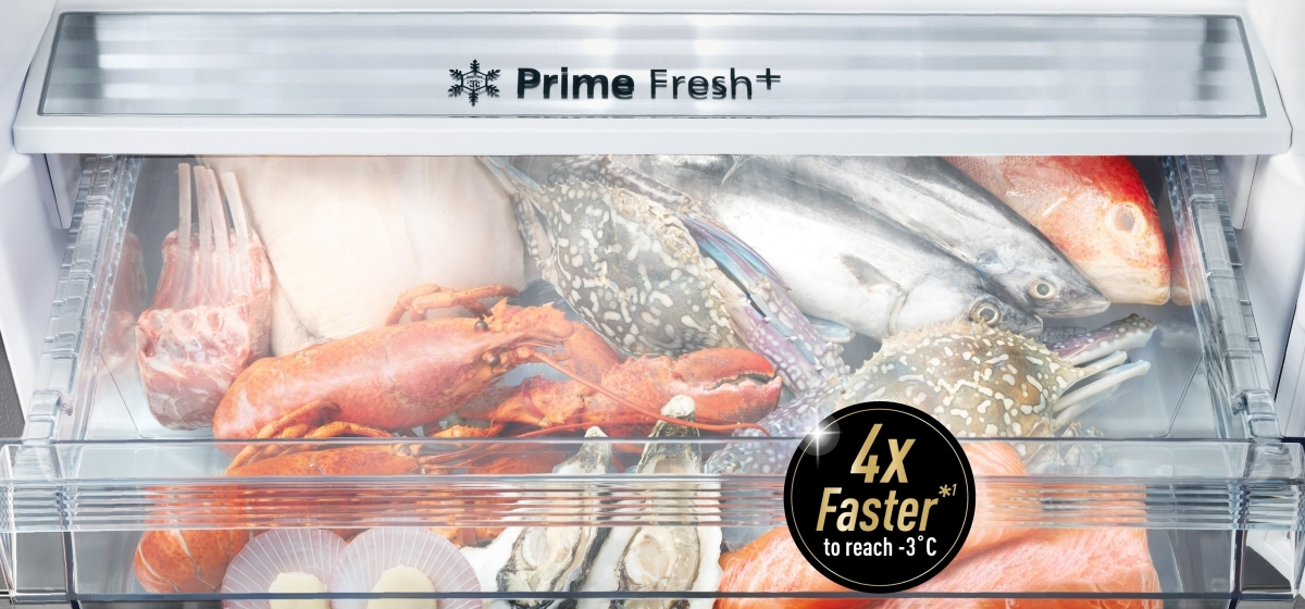Faster Soft Freezing Keeps Food Fresh with Prime Fresh+