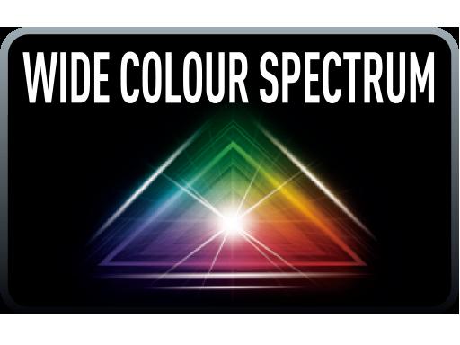 Širok barvni spekter