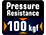 Pressure resistance to 100kgf / 220lbf