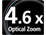 4.6x Optical Zoom