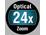 Zoom óptico de 24x