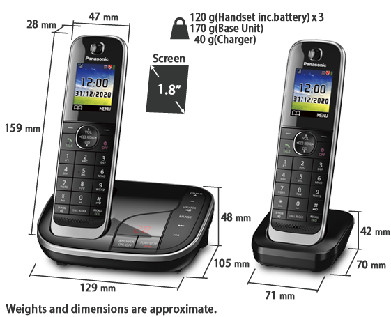 KX-TGJ423E Telephones With Triple Handsets - Panasonic UK