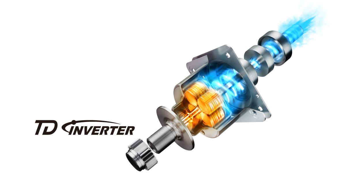 Công nghệ TD Inverter tạo Xoáy nước siêu mạnh