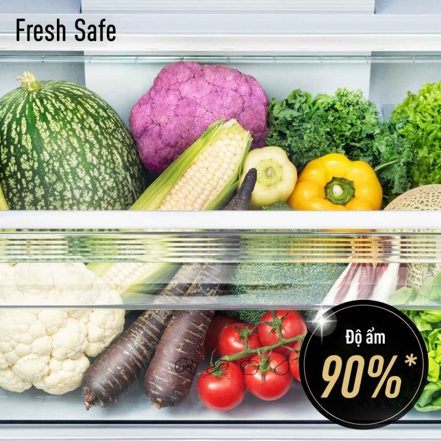 Duy trì độ ẩm giúp rau củ quả tươi ngon
