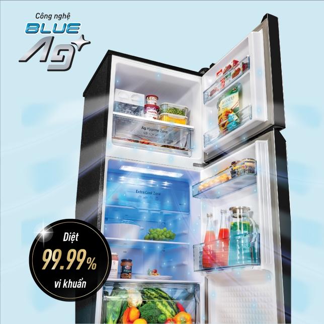 CÔNG NGHỆ BLUE AG+ GIÚP DIỆT 99,99% VI KHUẨN