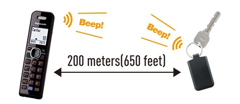 Detect up to 200 m/ 650 feet (open field)