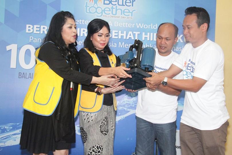 Panasonic Membuka Akses Air Bersih Bagi Warga Desa Kepuharjo Yogyakarta Melalui Donasi Pompa Panasonic