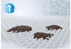 Mechanism of dirt removal by foam surfactants