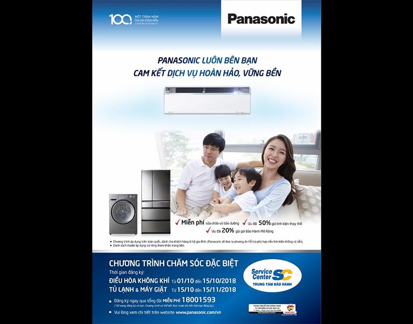 Panasonic miễn phí bảo dưỡng hơn 100 sản phẩm điện máy gia dụng