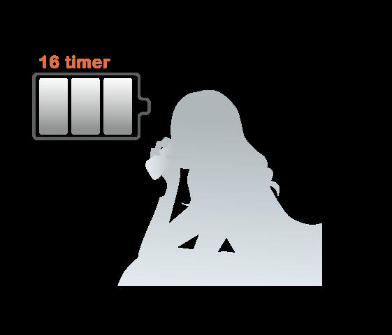 Batteri med lang levetid