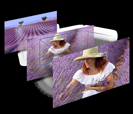Rugalmas képkomponálás 25 mm* széles látószöggel és 24× optikai zoommal