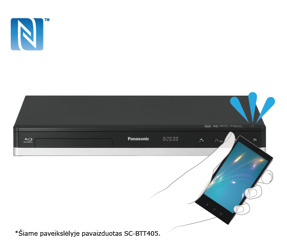 Prijungimas vienu palietimu (NFC)