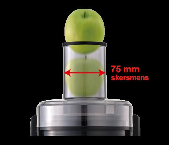 Ilgas vamzdis vaisiams ar daržovėms dėti