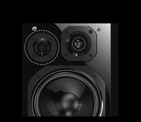 Augstas veiktspējas superaugsto frekvenču skaļrunis