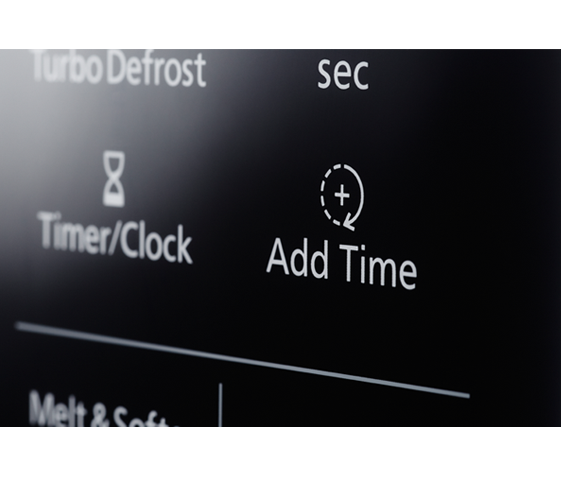 Add Time lets you finish just the way you want with a single button