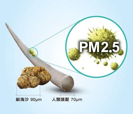 nanoe主動分解PM2.5細懸浮微粒達99%*