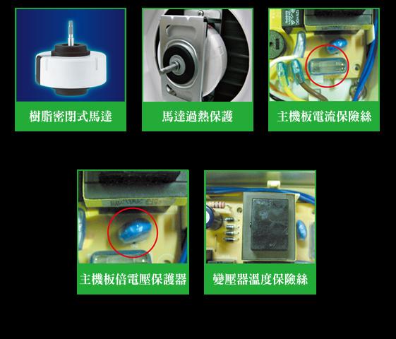 全機種採防燃材質設計