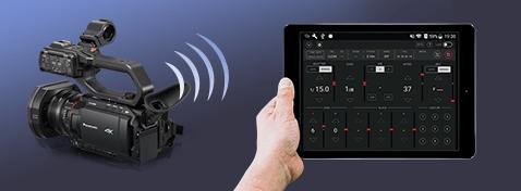 Controle sem fio de um tablet ou smartphone